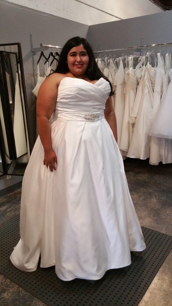 satin ballgown wedding dress with pockets wedding dress with pockets