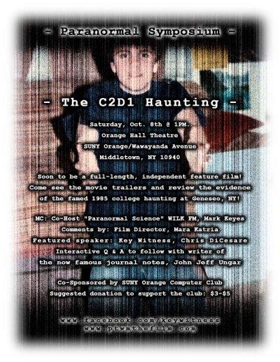 The C2D1 Haunting - A Paranormal Symposium, SUNY Orange GRAPEVINE