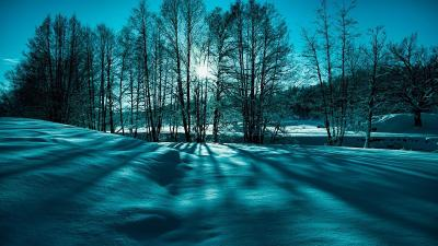 Blue and green winter light - HD wallpaper Wallpaper Download 5120x2880