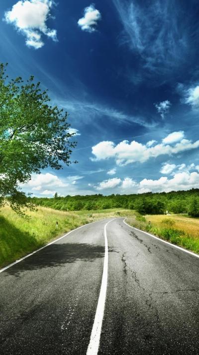HD digital art wallpaper - road to the nature Wallpaper Download 720x1280