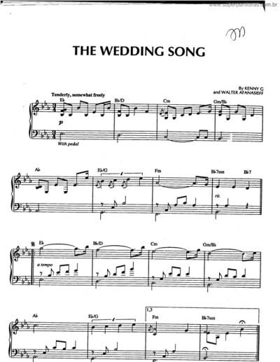 Super Partituras - The Wedding Song v.2 (Kenny G), com cifra