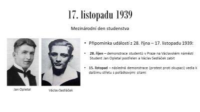 2017-11-17 Dějinné souvislosti 17. listopadu 1939   Svobodný vysílač CS