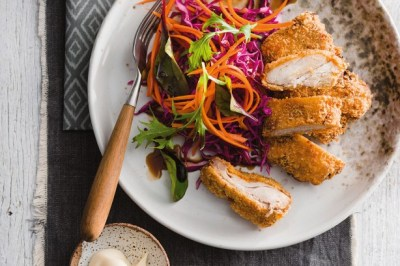 Crunchy Chicken With Cabbage And Carrot Quickle Recipe - Taste.com.au