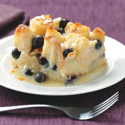 Over-the-Top Blueberry Bread Pudding Recipe | Taste of Home