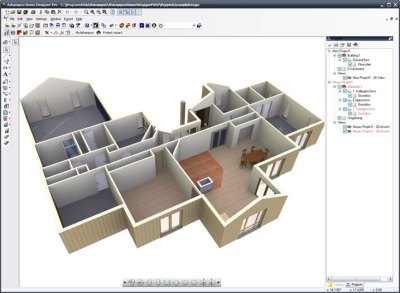 3D house design software program free download