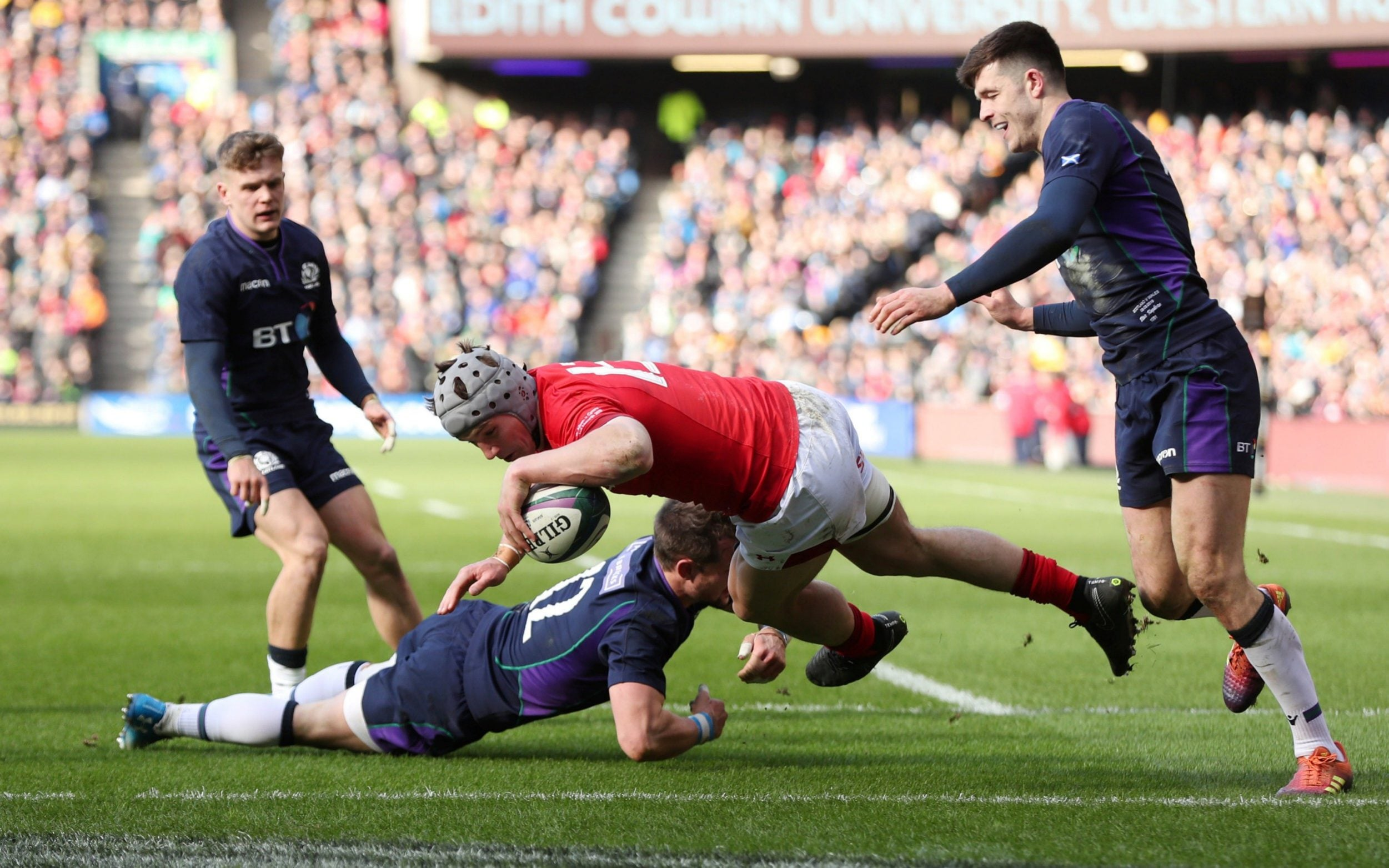 Scotland 11 Wales 18, Six Nations 2019: Welsh survive second-half Scottish onslaught to close in ...