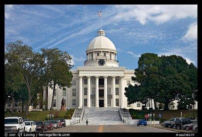 Picture/Photo: Alabama Capitol and street. Montgomery, Alabama, USA