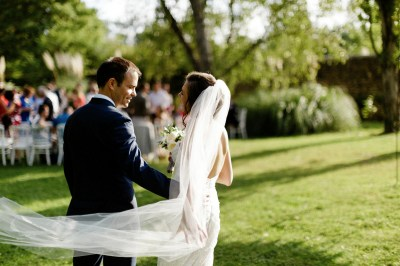 Nicole and Laurent for their outdoor destination wedding ...