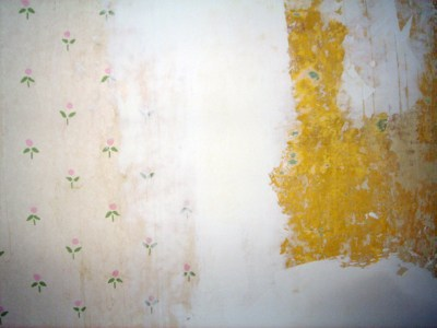 Renovation - Wallpaper Removal - Drywall Mud Used as Spackle | The Artsy Crafter