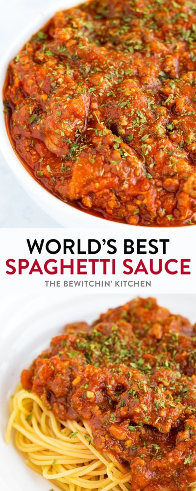 World's Best Spaghetti Sauce | The Bewitchin' Kitchen
