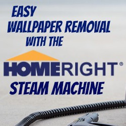 Easy Wallpaper Removal With the HomeRight SteamMachine - The DIY Village