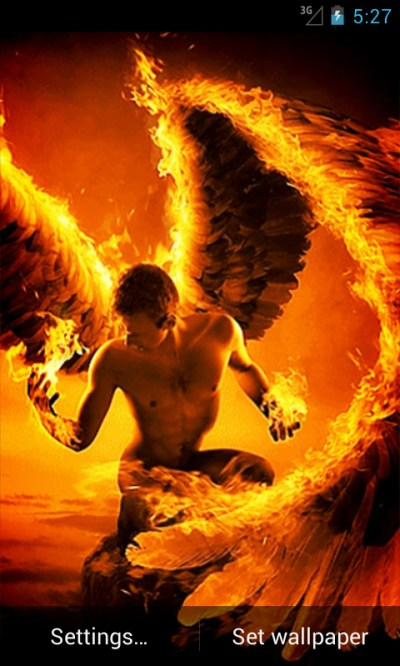 Fire Angel Live Wallpaper