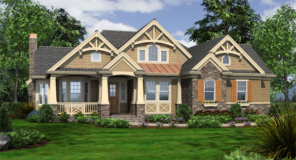 Careymoor 3249   3 Bedrooms and 3 Baths   The House Designers Front Rendering