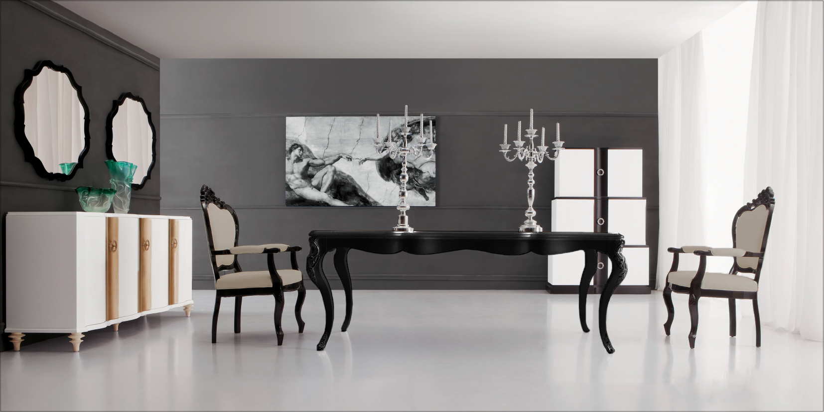 pd black dining table angelina modern kitchen table click to see larger image Black Dining Table Angelina