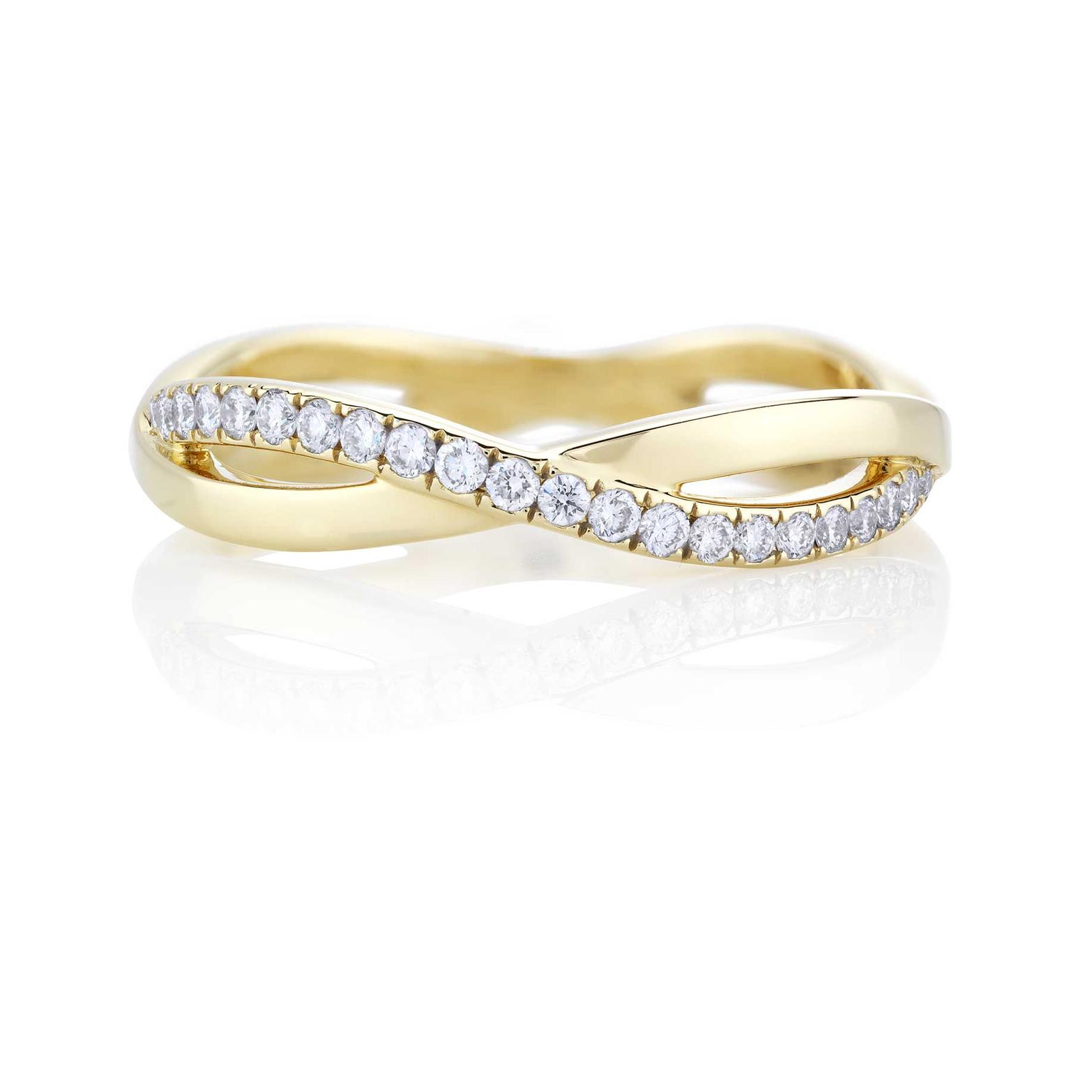 matching wedding bands infinity diamond wedding band Celtic Inspired