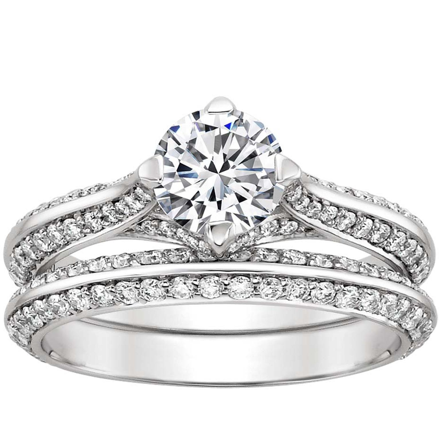forever brilliant moissanite hexagon twig engagement ring ready to ship 5ct brilliant earth wedding bands Forever Brilliant Moissanite Hexagon Twig Engagement Ring Ready to Ship