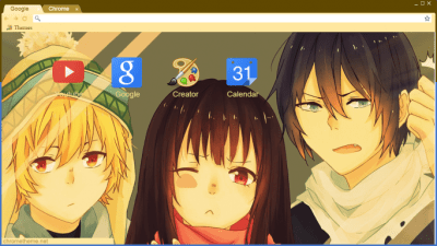Noragami Chrome Themes   ThemeBeta Noragami Olive Glass
