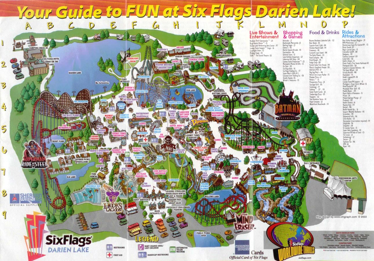 Theme Park Brochures Six Flags Darien Lake   Theme Park Brochures