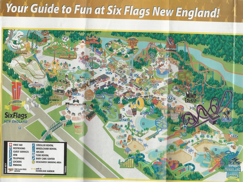 Six Flags New England   2006 Park Map
