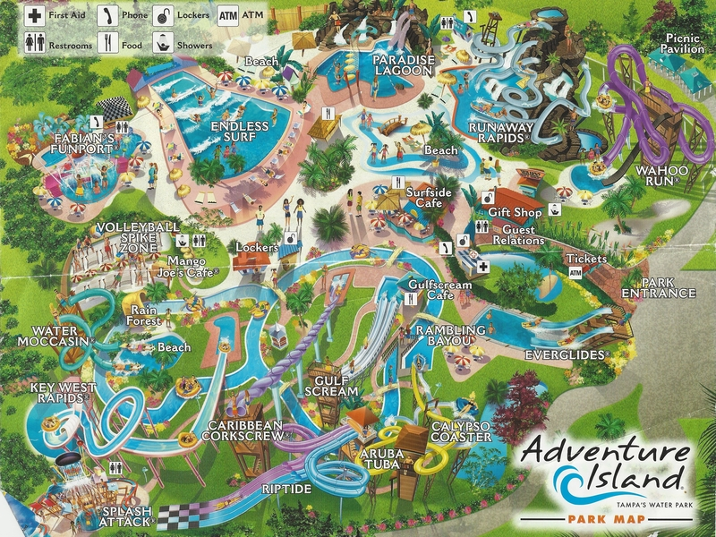 Adventure Island Water Park   2006 Park Map Photo By  molemaster43  2006 Park Map