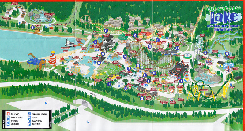 Lake Compounce   2005 Park Map Photo By  larrygator  2005 Park Map