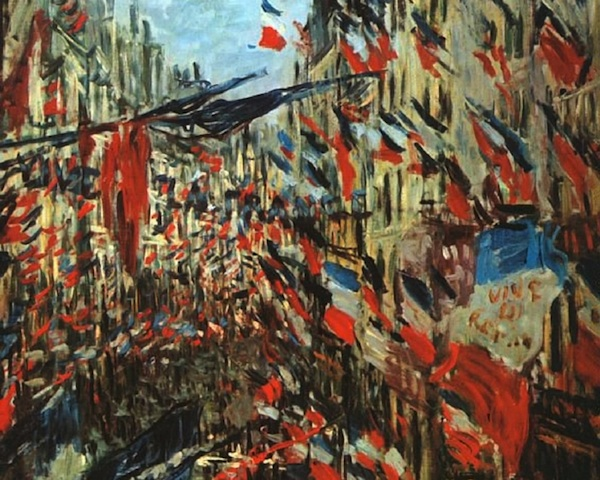 Required Reading for Bastille Day Claude Monet  Rue Montorgueil  Paris  Festival of 30 June 1878
