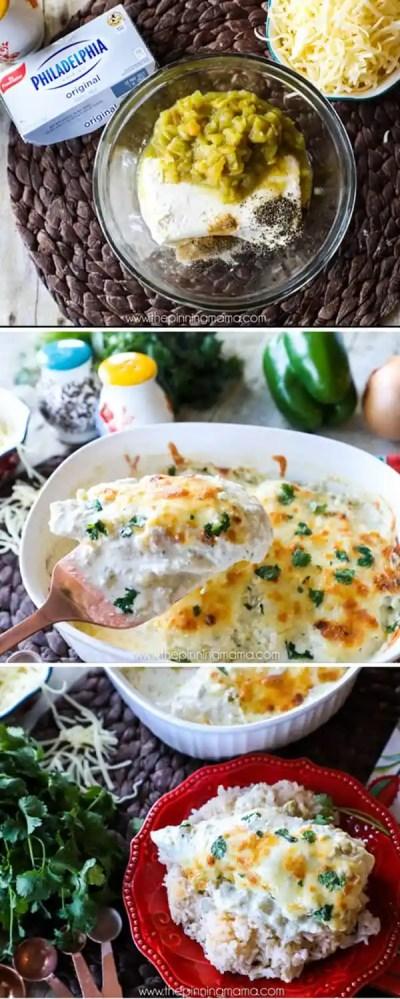 Green Chili Chicken Bake Recipe • The Pinning Mama