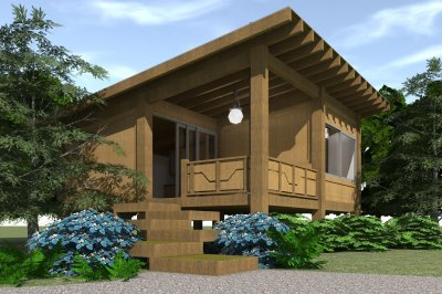 1 Bedrm, 456 Sq Ft Modern House Plan #116-1013