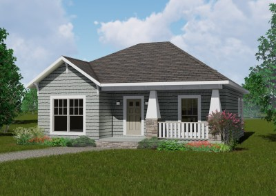2 Bedrm, 1073 Sq Ft Country House Plan #123-1083