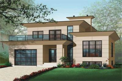 4 Bedrm, 3198 Sq Ft Contemporary House Plan #126-1012
