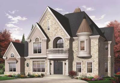 Luxury House Plans - Home Design # 126-1152