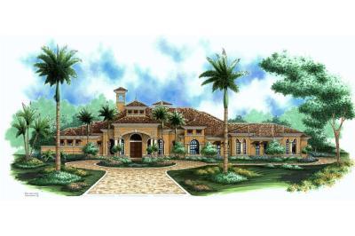 Florida Style Floor Plan - 3 Bedrms, 4 Baths - 3773 Sq Ft ...