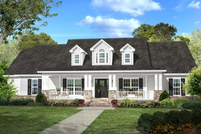 Country House Plan #142-1131: 4 Bedrm, 2420 Sq Ft Home | ThePlanCollection