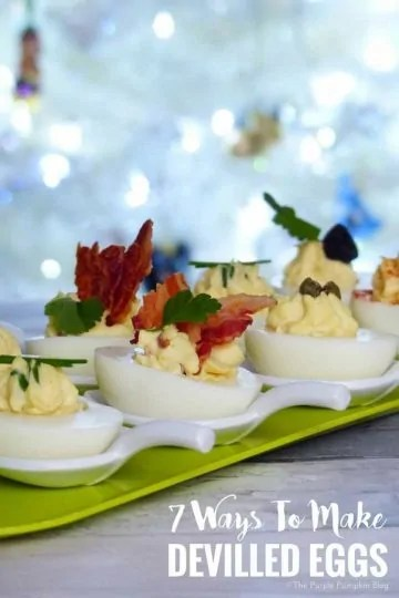 7 Ways To Make Devilled Eggs - very easy to make, and perfect for parties