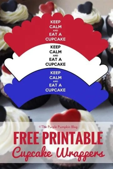 Queen's 90th Birthday - Free Printable Cupcake Wrappers. Plus lots more great FREE printables on The Purple Pumpkin Blog!