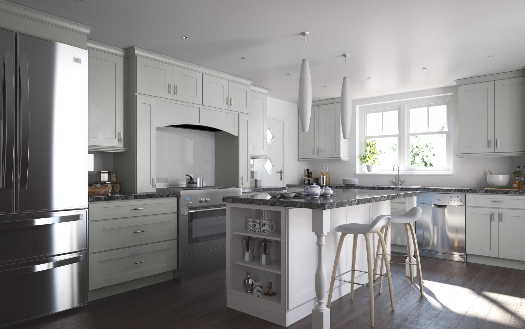 society shaker dove gray assembled kitchen cabinets Pre Assembled Kitchen Cabinets Society Shaker Dove Gray