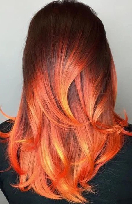 The Most Gorgeous Red Ombre Hair Ideas for Fiery Ladies Fire Red And Black Ombre Hair