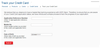 How to Check HDFC Credit Card Application Status Online