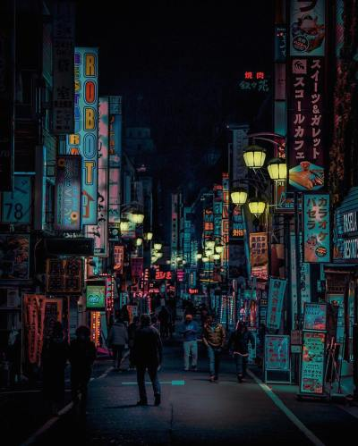The Neon Glow of Tokyo and London's Nightlife Captured by ...