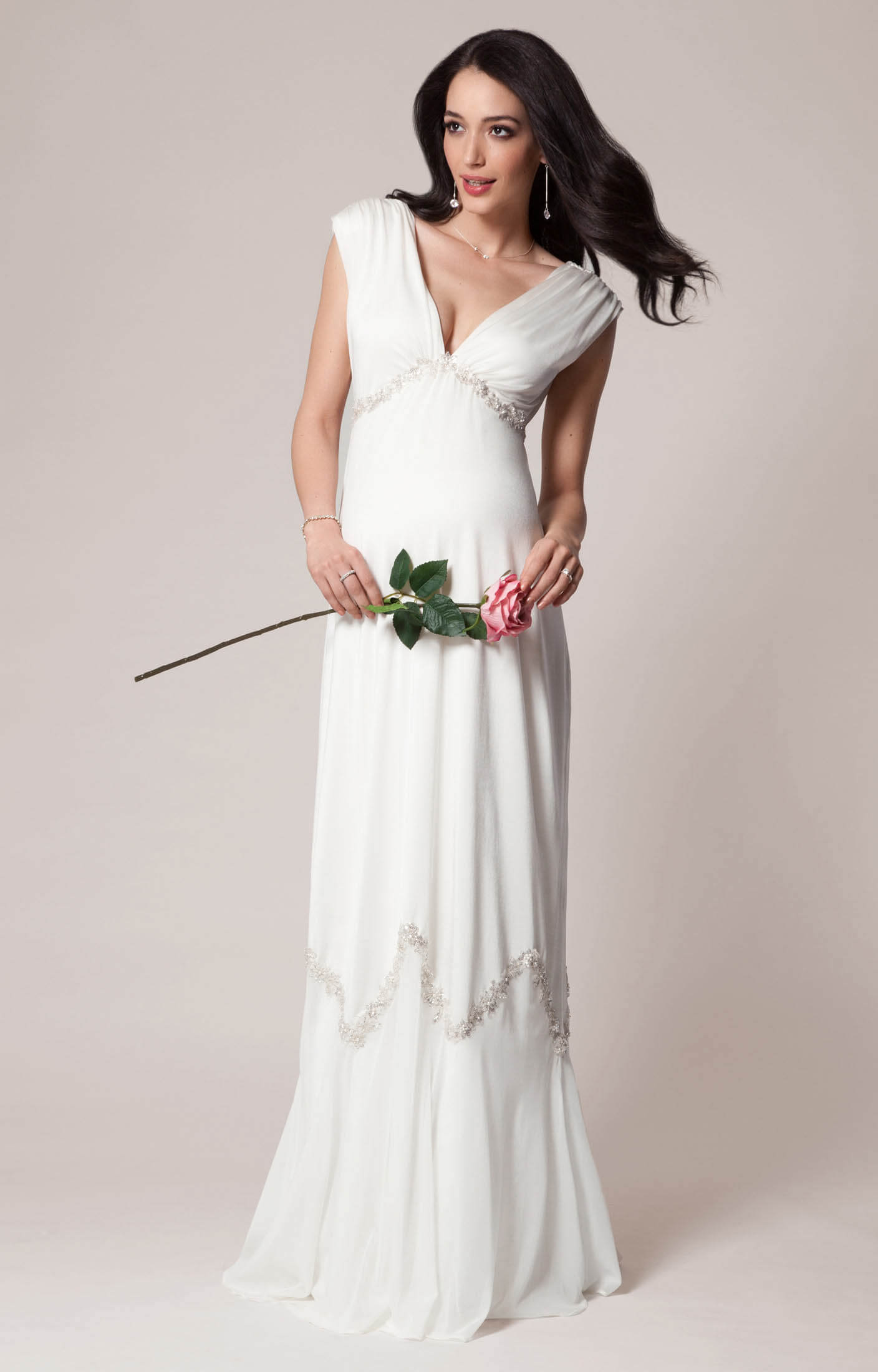 Constellation Maternity Wedding Gown (Ivory) pregnancy wedding dresses Constellation Maternity Wedding Gown Ivory by Tiffany Rose