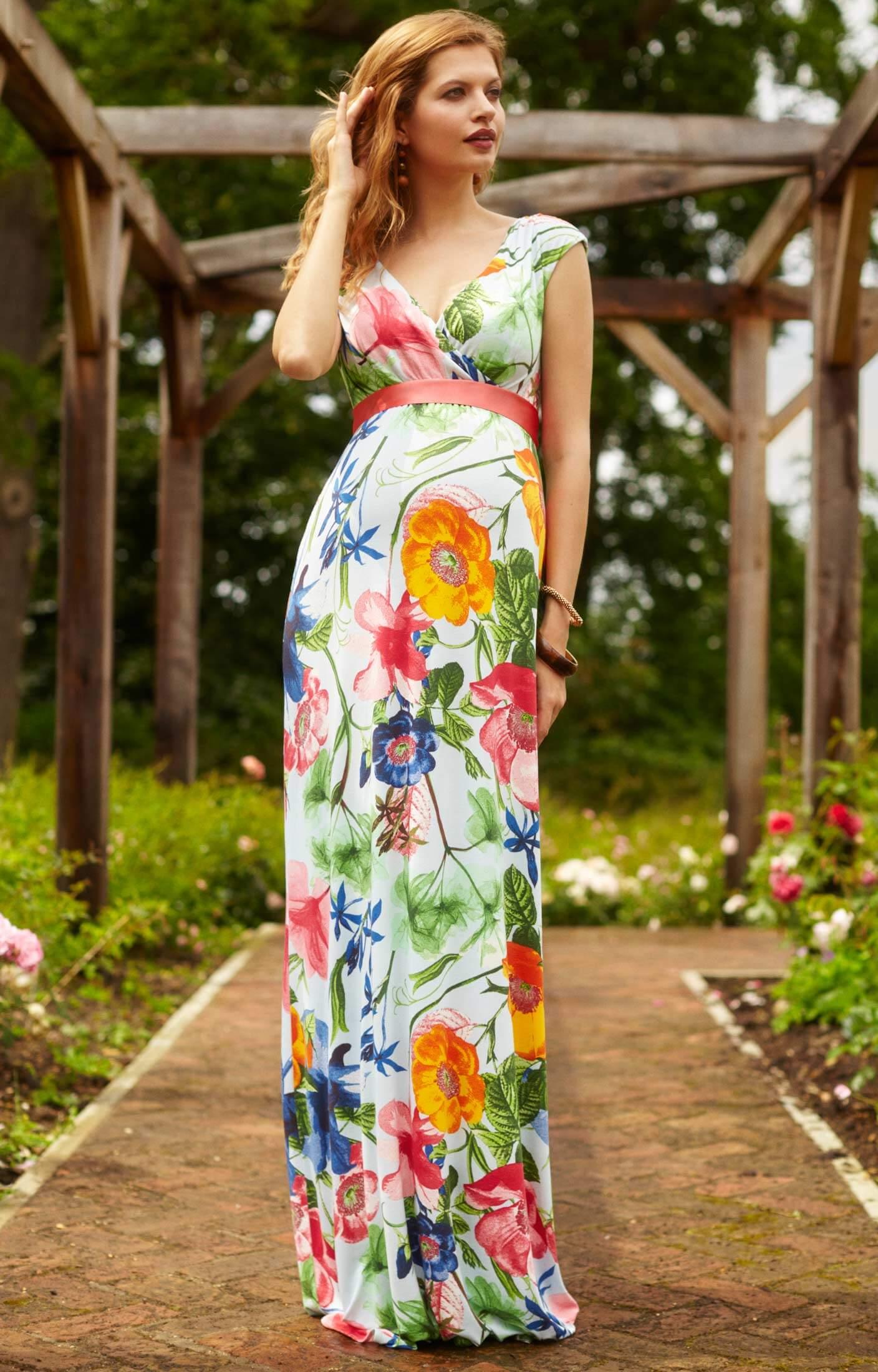 Alana Maxi Maternity Dress Hawaiian Breeze maternity dresses for weddings Alana Maxi Maternity Dress Hawaiian Breeze by Tiffany Rose