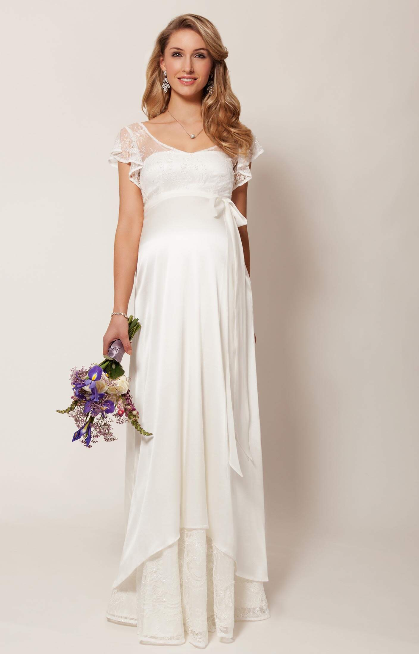 Juliette Maternity Wedding Gown (Ivory) pregnancy wedding dresses Juliette Maternity Wedding Gown Ivory by Tiffany Rose