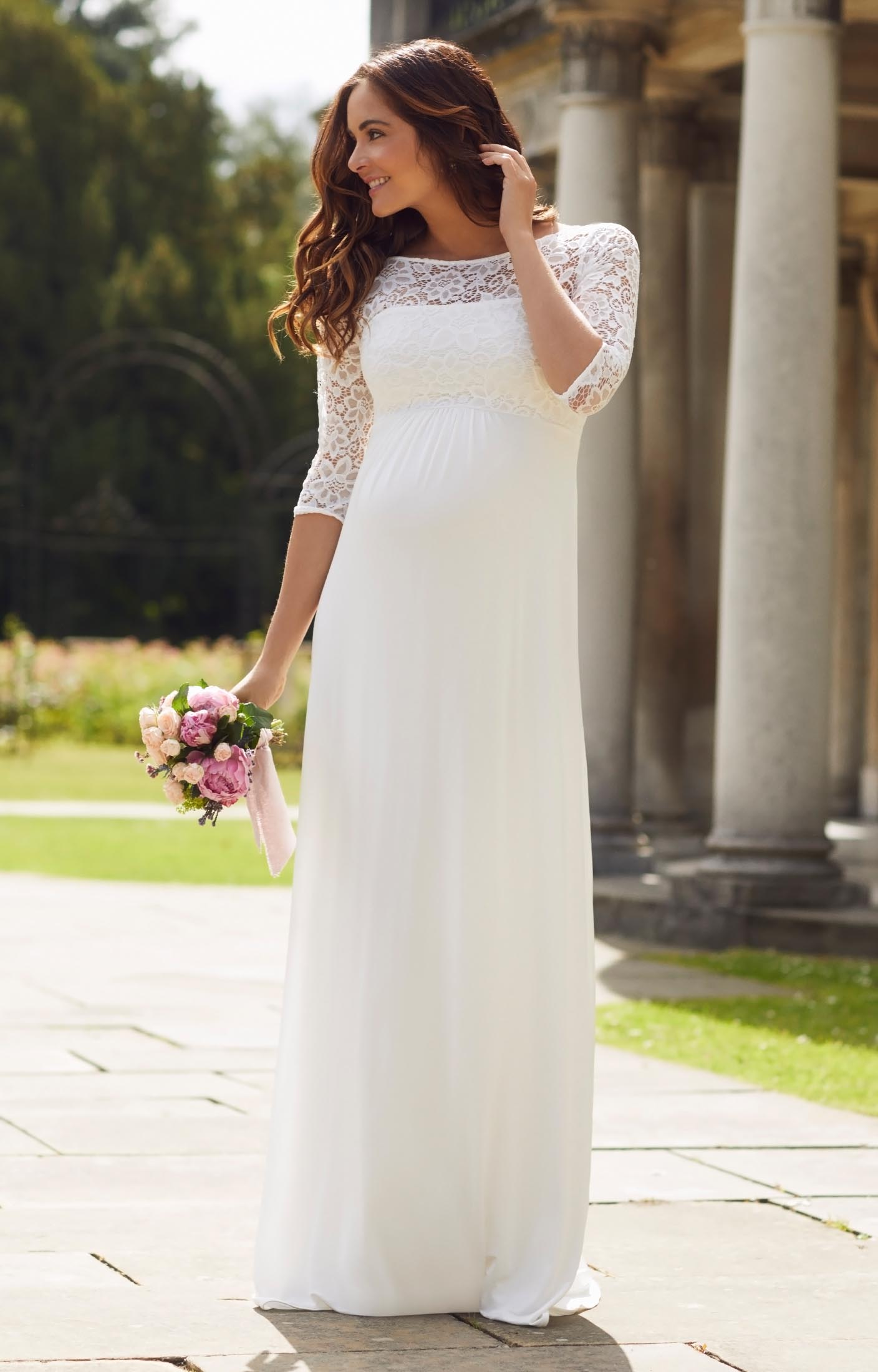 Lucia Maternity Wedding Gown Long Ivory pregnancy wedding dresses Lucia Maternity Wedding Gown Long Ivory by Tiffany Rose