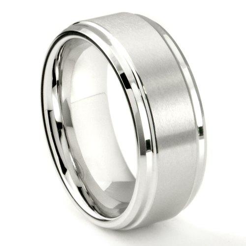 White Tungsten Carbide 9MM Brush Center Wedding Band Ring P tungsten carbide wedding rings You may also like White Tungsten Carbide SandBlast Finish Wedding Band Ring White Tungsten Carbide SandBlast Finish Wedding Band Ring