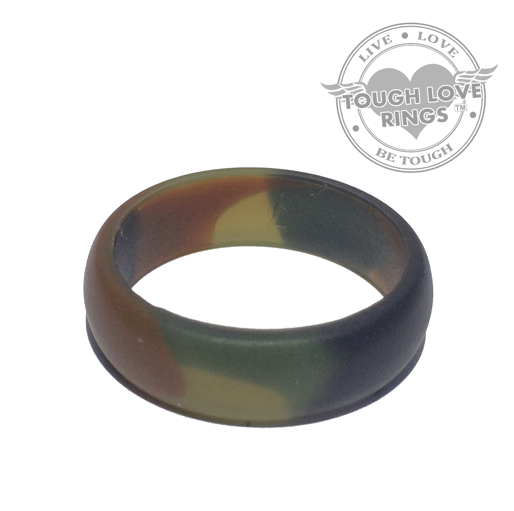 tough love premium silicone wedding rings striped greenyellow line thick band silicone wedding ring TOUGH LOVE Premium Silicone Wedding Rings Camo GREEN Thin band