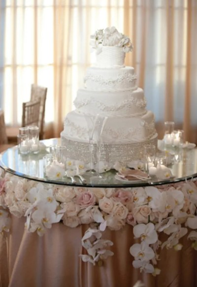 Stylish Wedding Cake Table Decorations
