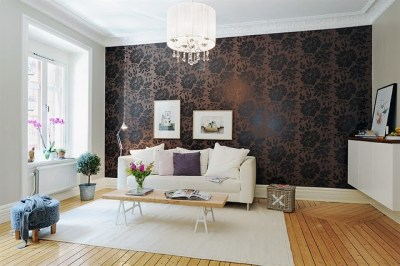 16 Elegant Interiors With Damask Wallpapers