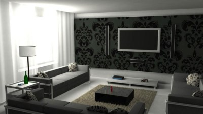 Black Coffee Table As A Focal Point In The Living Room