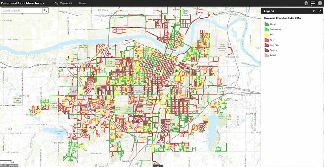 Topeka Street Conditions   Street Maintenance By The Numbers