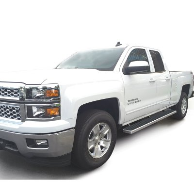 GMC Sierra 2500HD Double Cab 2015 2017 Running Boards Step Bars         GMC Sierra 2500HD Double Cab 2015 2017 Running Boards Step Bars  Aluminum Rocker Mount 6